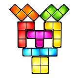 JAYLONG Tetris Block DIY Night Lamp, Creative Multicolor LED Lampe Constructible Atmosphere Night Light for Kids