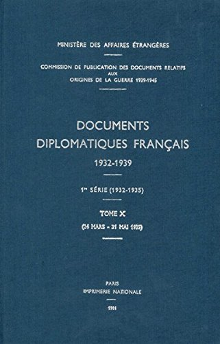 Documents Diplomatiques Francais, 1935: 24 Mars - 31 Mai