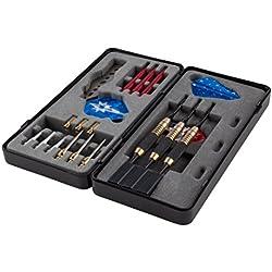 WINMAX Dardos de Pástico Dardos de Acero Profesional Pack con Nailon ejes, plumas y Puntas de Acero y Puntas Blandas