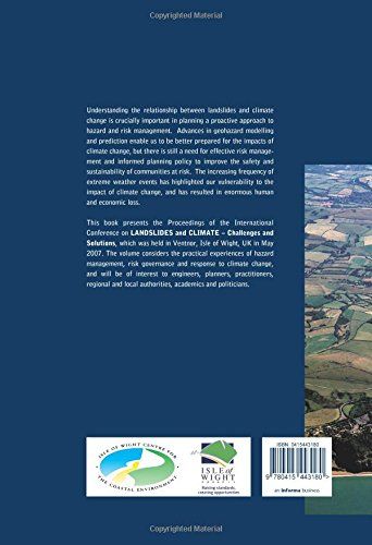 Landslides and Climate Change: Challenges and Solutions: Proceedings of the International Conference on Landslides and Climate Change, Ventnor, Isle ... in Engineering, Water and Earth Sciences)