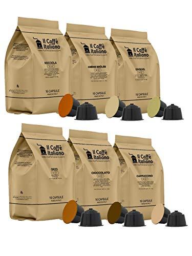 FRHOME - Nescafè Dolce Gusto 96 Capsule compatibili – Il Caffè Italiano – Kit Degustazione Bevande con vari gusti