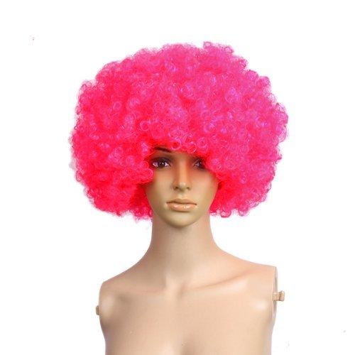Gleader kurzes krauses Afro Haar Kostuem cosplay Peruecke