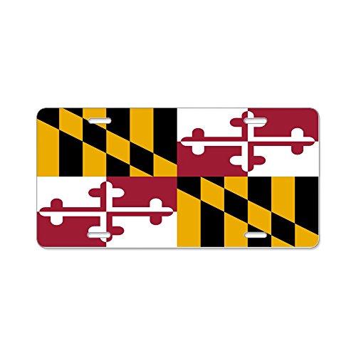 CafePress Maryland Flagge Aluminium Nummernschild–Standard mehrfarbig