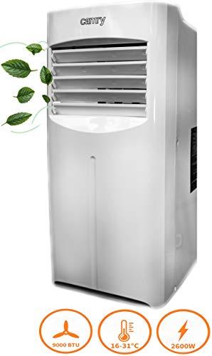 3in1 Mobile Klimaanlage | 9000 BTU | 2600 Watt | Aircooler | Klimagerät | Klima Ventilator mit Fernbedienung | Luftreiniger | Klima Anlage | Air Cooler | 2 Geschwindigkeitsstufen | Timer (9000 BTU)