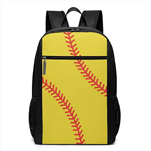 School Backpack, Schoolbag Travel Bookbag, Baseball Stitches Texture Laptop Computer Backpack 17 Inch Large Casual Travel Daypack Laptop Bag for Women Men -