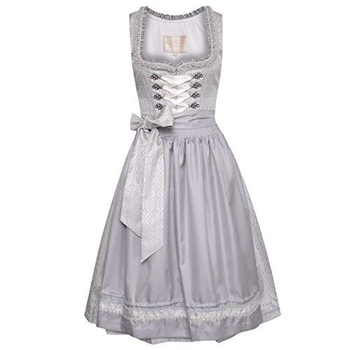 Krüger Midi Dirndl Edith in Silber Collection Designer Dress Form Set