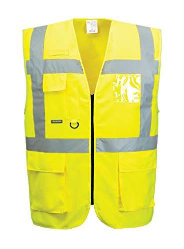 PORTWEST Warnweste S375 gefüttert gelb Warnschutzweste Winter EN 20471 Klasse 2, Größe:XXXL (Gefüttert Trikot)