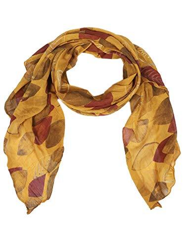 Zwillingsherz Seiden-Tuch Damen stylisches Muster - Made in Italy - Eleganter Sommer-schal - Hochwertiges Seidentuch/Seidenschal - Halstuch und Chiffon-Stola Dezent Stilvoll Gepunktet gelb