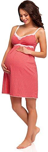 Be Mammy Vêtements Maternité Chemise de Nuit Dolly Corail