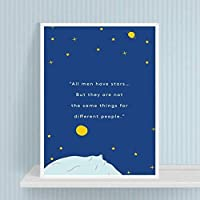 SCLPOSTER Canvas Painting Nordic Style Prints The Little Prince Movie Home Decor Wall Art Modular Pictures Watercolor Poster For Kids Room M 16x20inch