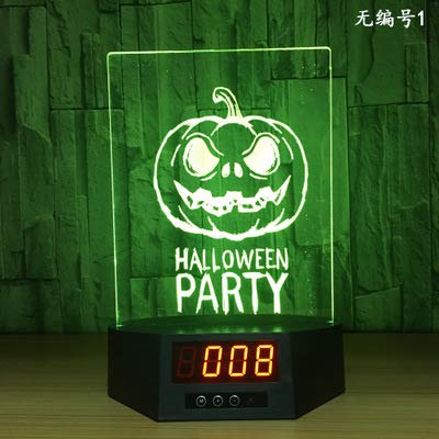 Nachtlicht 3D Smart Home Led Nachtlicht Kreativ Usb Tischlampe Bunt Fernbedienung Touch (225X180X90Mm) Kürbis