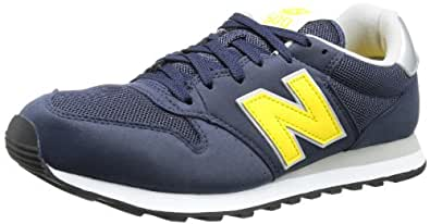 New Balance GM500 D (13H) 314361-60, Herren Sneaker, Blau (NY NAVY/YELLOW 10), EU 47.5 (US 13)