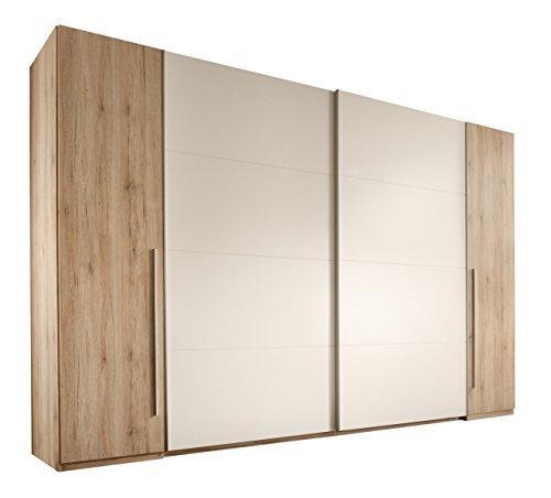 Stella Trading Match 4-t?riger Kleiderschrank, Holz, san remo/wei?, 61 x 315 x 225 cm