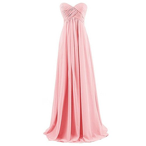 Hqclothingbox - Vestito - Sera - Donna rosa Medium