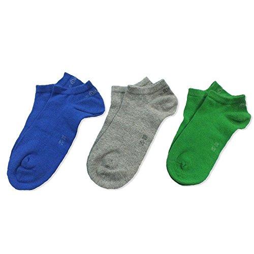 3 Paar s.Oliver Socken Strümpfe Unisex, 3er Pack, Sneaker-Socken, Sneakersocken, viele Farben, S24001, Größe:43/46;Farbe:69 blue