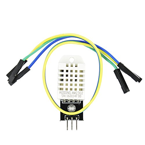 IZOKEE DHT22/AM2302 Digitaler Sensor Feuchtigkeit- und Temperatur-Sensor mit Platine und Kabel für Arduino UNO MEGA 2560 AVR PIC und Raspberry Pi (1x DHT22 mit Platine Kabel)