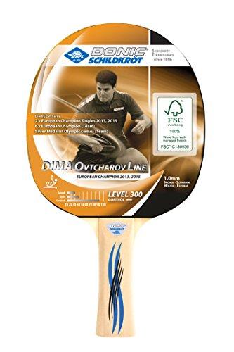 Donic-Schildkröt Tischtennisschläger Ovtcharov 300 FSC, 1,0 mm Schwamm, FSC Holz, Jade - ITTF Belag, 705232