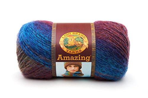 Lions Bay (Lion Brand Yarn Company 1 Knäuel Garn Amazing, Glacier Bay, Multicolor)