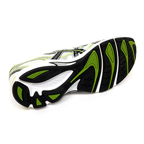 B9918 sneaker uomo ASICS GEL IKAIA 2 scarpa bianco/nero/lime shoe man Bianco/Nero