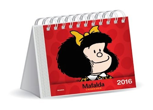 Mafalda 2016 Calendario de escritorio - Rojo (Spanish Edition)