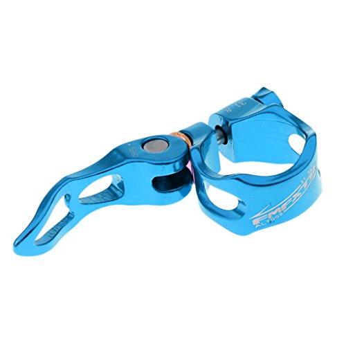 Sharplace Aluminium Sattelklemme Sattelbefestigung Fahrrad Schnellspanner Sattelstütze Sattel klemme - Blau, 31.8mm - Klemme Sattelstütze Blau