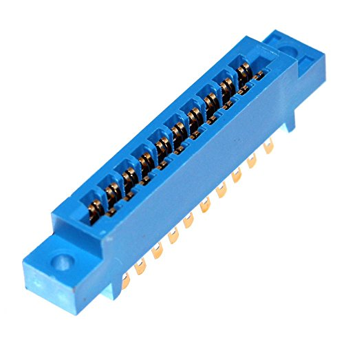 1 Kartenrandsteckverbinder Platinenstecker Steckerleiste Lötleiste Leiste Edge Connector Pin Crimp PCB Board Steckleiste Neu Joy-Button (2x 10-polig) (Joy-button)