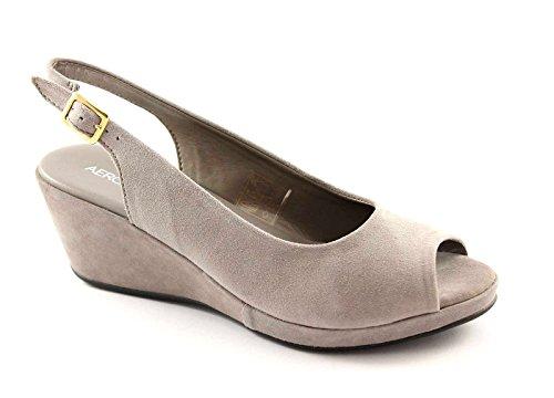 AEROSOLES WELCOME oyster scarpe donna sandali comfort passeggio Grigio