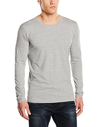 Stedman Apparel Clive (Long Sleeve)/St9620, T-Shirt Uomo Grigio (Grigio Heather)