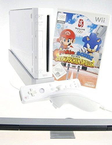 Nintendo Wii Konsole in weiss mit Mario & Sonic bei den Olympischen Spielen 2008