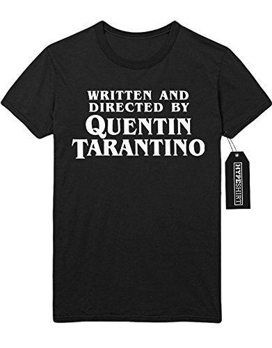 T-Shirt WRITTEN AND DIRECTED BY QUENTIN TARANTINO C123456 Schwarz (Wallace Marsellus Kostüm)