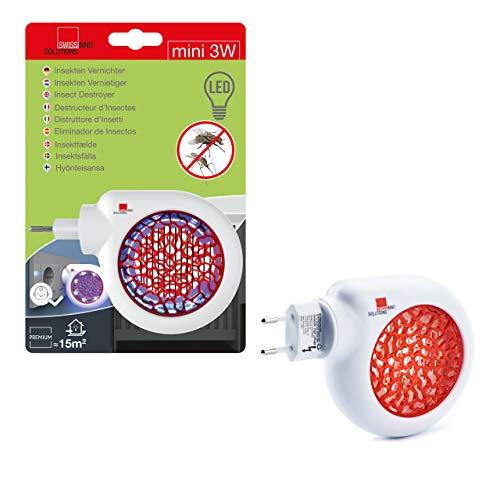 SWISSINNO SOLUTIONS Elektrischer Insektenvernichter Mini LED 3 Watt: Mücken- & Fliegenfalle für Innenbereiche, ohne Chemie & Gift Led 3-mini-licht