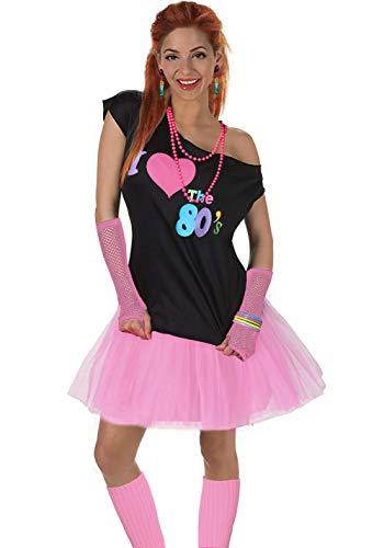 amen I Love The 80er Jahre T-Shirt 80er Jahre Outfit Zubehör, Rosa - UK 18-20 / XL-XXL ()