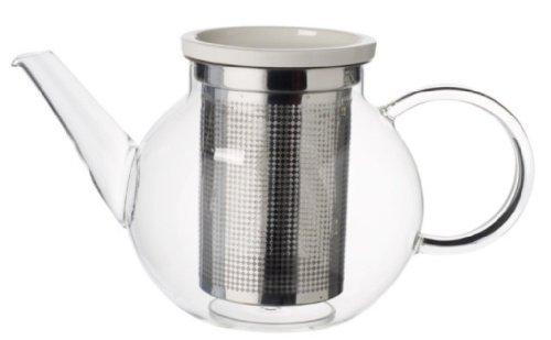 Villeroy & Boch Artesano Hot Beverages Teekanne mit Sieb, 1 l, Glas/Premium Porzellan/Edel