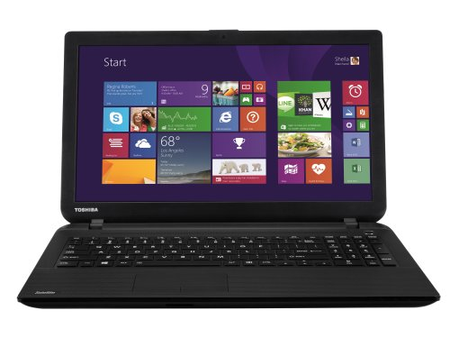Toshiba Satellite C50D-B-120 15.6-inch Laptop Notebook (Black) - (AMD E1-6010 1.35GHz, 4GB RAM, 500GB HDD, Windows 8.1 with Bing)