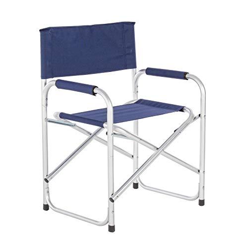 ARREDinITALY Lot de 6 chaises de Jardin Pliantes en Aluminium satiné et textilène Bleu