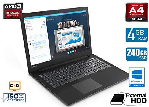- CeO Eta V1 - LENOVO Notebook Essential V145-15AST - AMD A-Series A4-9125 2,30 GHz | 4GB RAM | 240GB Stato solido | DVD | Hard Disk Esterno da 500GB | AMD Radeon R3 Graphics| WI-FI | WINDOWS 10 PRO