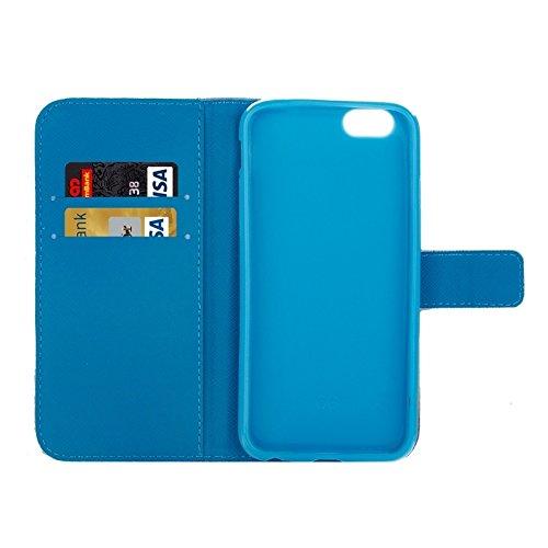 Phone case & Hülle Für iPhone 6 Plus / 6S Plus, Farbe Zeichnung Muster Kreuz Textur Leder Tasche mit Halter & Card Slots & Wallet ( SKU : S-IP6P-0395G ) S-IP6P-0395D