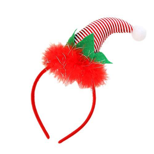 Lomsarsh Stirnband Clown Hut Party Dekor Haarband Verschluss Kopf Hoop Weihnachten Weihnachtsmütze Designs Caps Hüte Xmas Caps für Erwachsene und Kinder