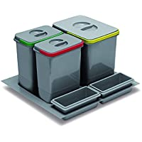 SO-TECH® Multino 1 x 15 l + 2 x 7 l separación sistema cubo de basura