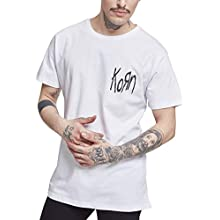 MERCHCODE Men's Korn Suffering Tee T-Shirt, White, XXXL