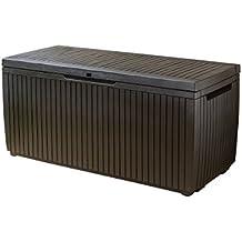 Keter Auflagen- und Universal Wood Style Box, Springwood, 305 L, braun