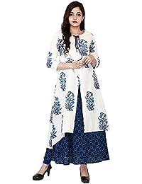 Kanishka Fabrics Women's Cotton Front Slit Kurti