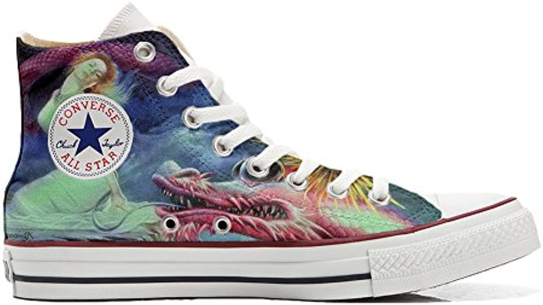 Converse All Star Hi Customized Personalisiert Schuhe (Gedruckte Schuhe) Fairy Dragon