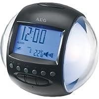 AEG FM Clock Radio - White - ukpricecomparsion.eu