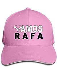 Zcfhike Gorra Gorro con Logo de Rafael Nadal Rafa Vamos Ceniza Multicolor54