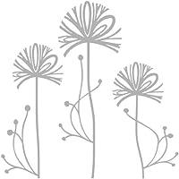 Adhesivos de flores con efecto de cristal esmerilado o efecto de vidriera para ventanas y puertas