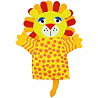 Amazemarket Infant Baby Kids Bath Rubbing Bibs Cartoon Animal Puppet Story Props Hand Toy Game Parent-child Interactive Funny Perfect Gift (lion)