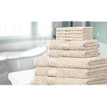 Knightsbridge Set di 9 asciugamani 100% cotone