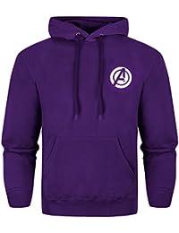 Oficial Marvel Los Vengadores 2edad de Ultron 'Hulkbuster' sudadera con capucha sudadera–morado