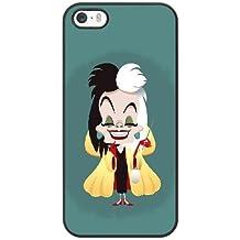 Generic Cell Phone Case for Funda iphone 5 5S SE Black Cruella de Vil 101 Dalmatians H3B5XW